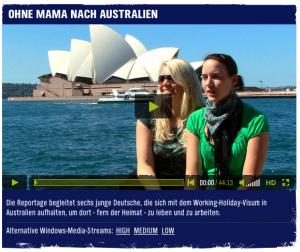Ohne Mama nach Australien - Video auf N-Joy